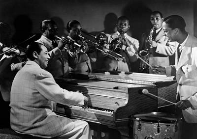 Jazz Photograph - Duke Ellington And His Famous Orchestra by Everett