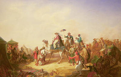 Bedouin Painting - Duke Ernest Of Saxe Cobourg Gotha's Tour To Egypt by Robert Kretzchmar