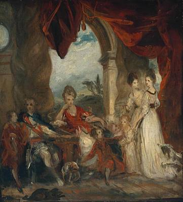 House Painting - Duke Of Marlborough And His Family by Joshua Reynolds