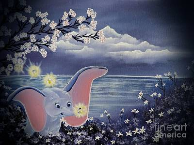 Disney Artist Painting - Dumbo by Dianna Lewis