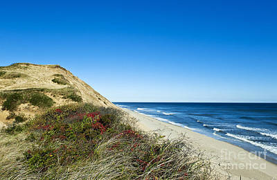 Dune Cliffs And Beach Print by John Greim