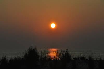 North Carolina Sunrise Digital Art - Dune Grass Sunrise by Bill Cannon