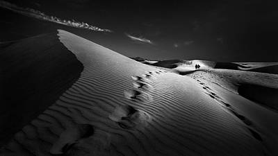 Trace Photograph - Dune Path by Kerstin Arnemann