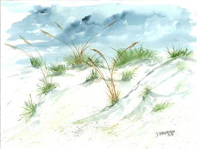 Marine Painting - Dunes 3 Seascape Beach Painting Print by Derek Mccrea