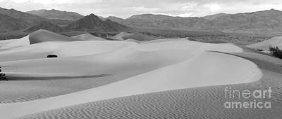Dunes In The Valley Black And White Print by Adam Jewell