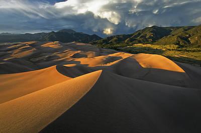 Great Sand Dunes Photograph - Dunescape Monsoon by Joseph Rossbach