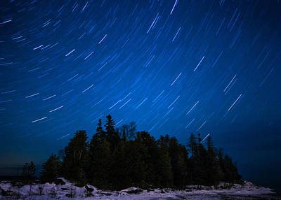 Dunk Island Photograph - Dunks Point Star Trail by Cale Best