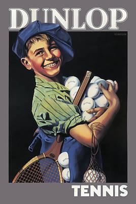 Dunlop Tennis Ball Boy  C. 1920 Print by Daniel Hagerman