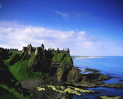 Photograph - Dunluce Castle, Co Antrim, Irish, 13th by The Irish Image Collection