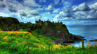 Castle Mixed Media - Dunluce Castle by Kim Shatwell-Irishphotographer