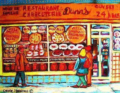 Dunn's Treats And Sweets Print by Carole Spandau