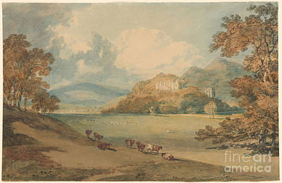 M.j Painting - Dunster Castle From The Northeast by J M W Turner