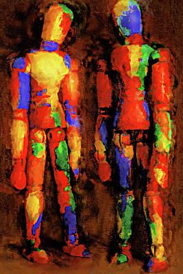 Multicolored Digital Art - Duo by Jeff  Gettis
