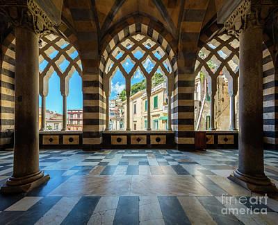 Church Pillars Photograph - Duomo Di Amalfi by Inge Johnsson