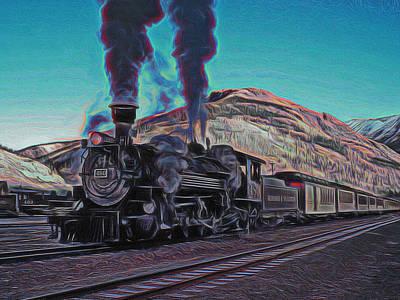 Durango Silverton Narrow Gauge Digital Art Print by Ernie Echols