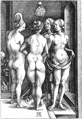 Artflakes Photograph - Durer: Four Witches, 1497 by Granger