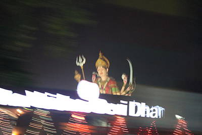 Durga Photograph - Durga Late Night From Rickshaw, Vrindavan by Jennifer Mazzucco