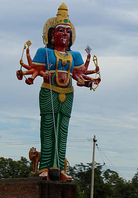 Durga Photograph - Durga On Route To Madurai by Jennifer Mazzucco