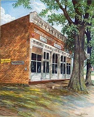 Egg Tempera Painting - Durham Mercantile  Sold by Jack Bolin
