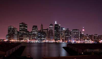 New York City Skyline Photograph - Dusk At Brooklyn Port by Shawn Everhart