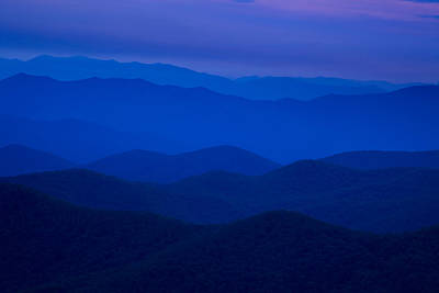 Mountain View Photograph - Dusk At The Blue Ridge by Andrew Soundarajan