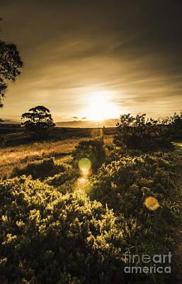 Orbs Photograph - Dusk In Rural Australia by Jorgo Photography - Wall Art Gallery
