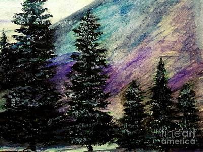 Dusk On Purple Mountain Original by Scott D Van Osdol