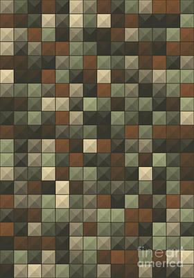 Abstract Digital Art - Dust Abstract Triangle Shape Pattern by Frank Ramspott