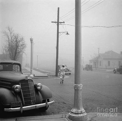 Telephone Poles Photograph - Dust Bowl, 1936 by Granger