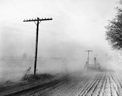 Telephone Poles Photograph - Dust Bowl, C1936 by Granger