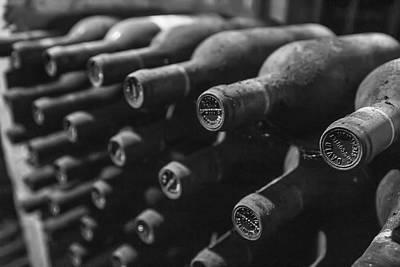 Dusty Wine Bottles Print by Georgia Fowler