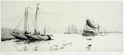 Dutch Eel Boats Print by William Lionel