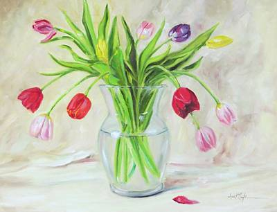 Spring Bulbs Painting - Dutch Tulips by Jean Costa