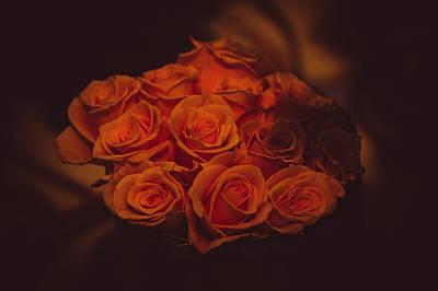 Dutch Yellow Roses Print by Jenny Rainbow