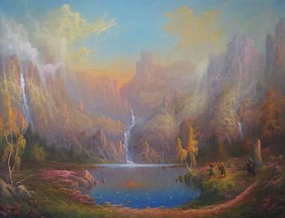 Tolkien Painting - Dwarf Kingdom The Crown Of Durin by Joe  Gilronan