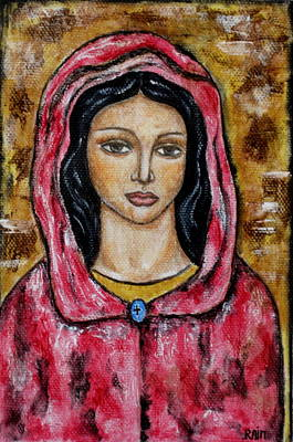 Christian Art . Devotional Art Painting - Dyanne by Rain Ririn