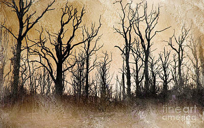 The Dying Trees Print by The Rambler
