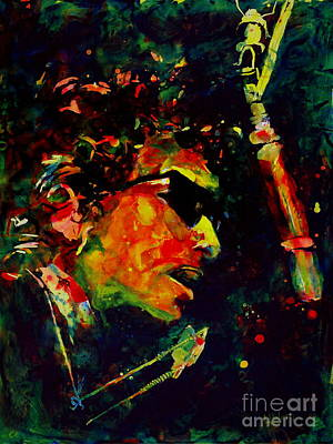 Harmonica Painting - Dylan by Greg and Linda Halom