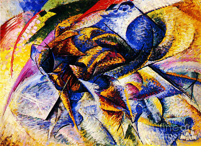 Boccioni Painting - Dynamism Of A Cyclist  by Celestial Images