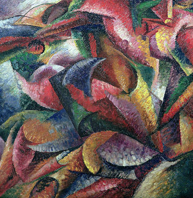 Kinetic Painting - Dynamism Of The Body by Umberto Boccioni