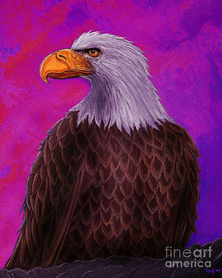 Eagle Painting - Eagle Crimson Skies by Nick Gustafson