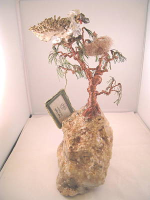 Different Stuff Sculpture - Eagle-eaglett by Judy Byington