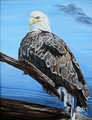 American Eagle Painting - Eagle Eye by Marilyn  McNish