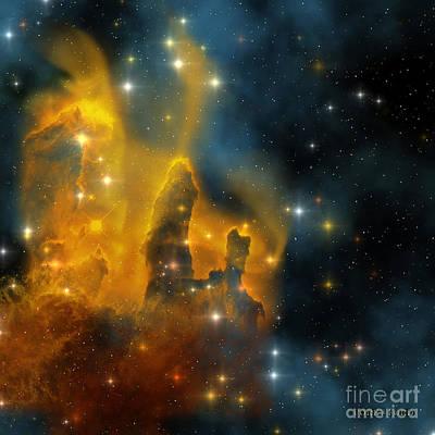 Eagle Ray Painting - Eagle Nebula by Corey Ford