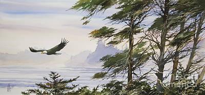 Eagle's Shore Print by James Williamson