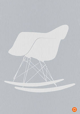 Chairs Digital Art - Eames Rocking Chair by Naxart Studio