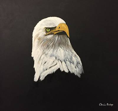 Eagle Painting - Eagle Earl's Power by Chris Bishop