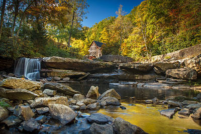 Early Autumn At Glade Creek Grist Mill 2 Print by Shane Holsclaw