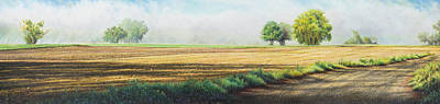 Dirt Roads Drawing - Early Birds by Lynn Bywaters