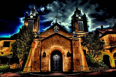 Adobe Church Photograph - Early Evening At The San Felipe De Neri Parish by David Patterson